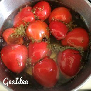 Cottura dei peperoncini tondi piccanti